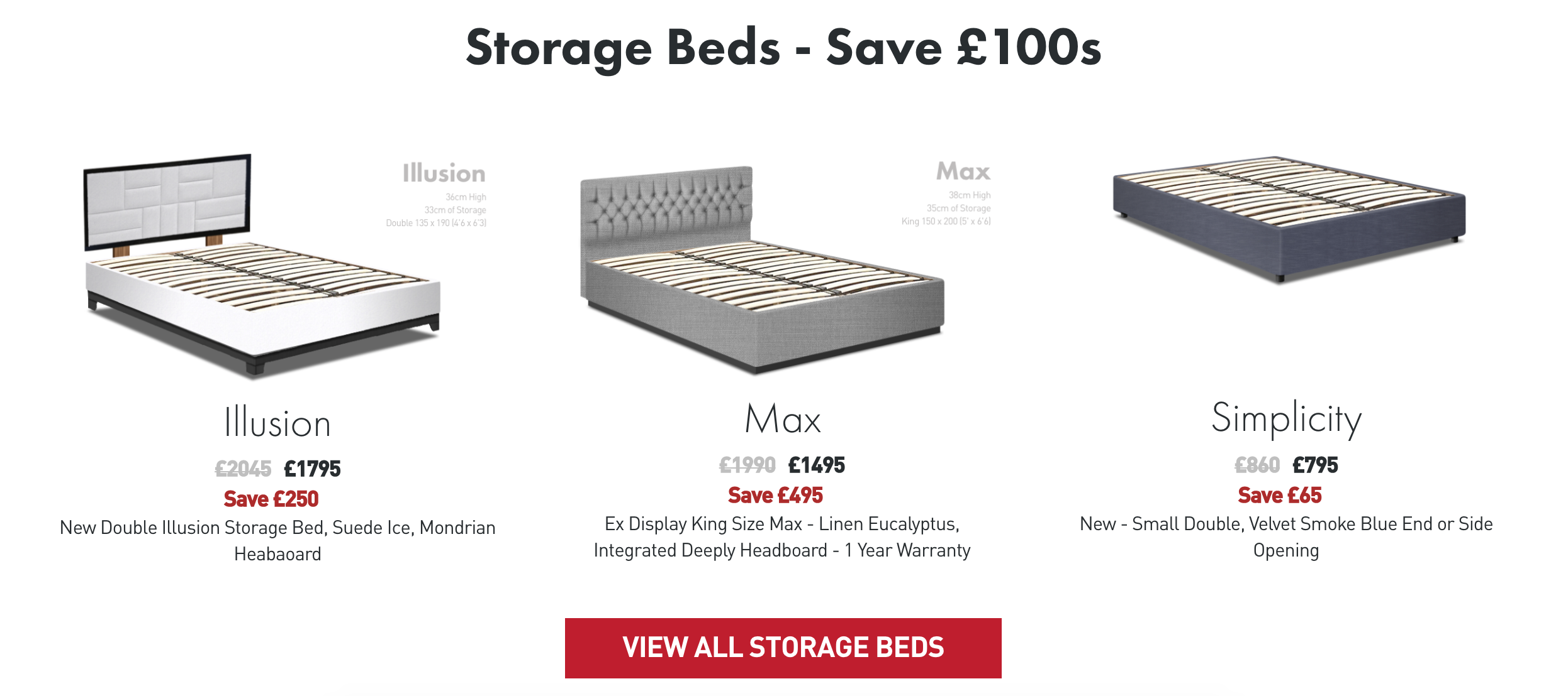 storage bed sale