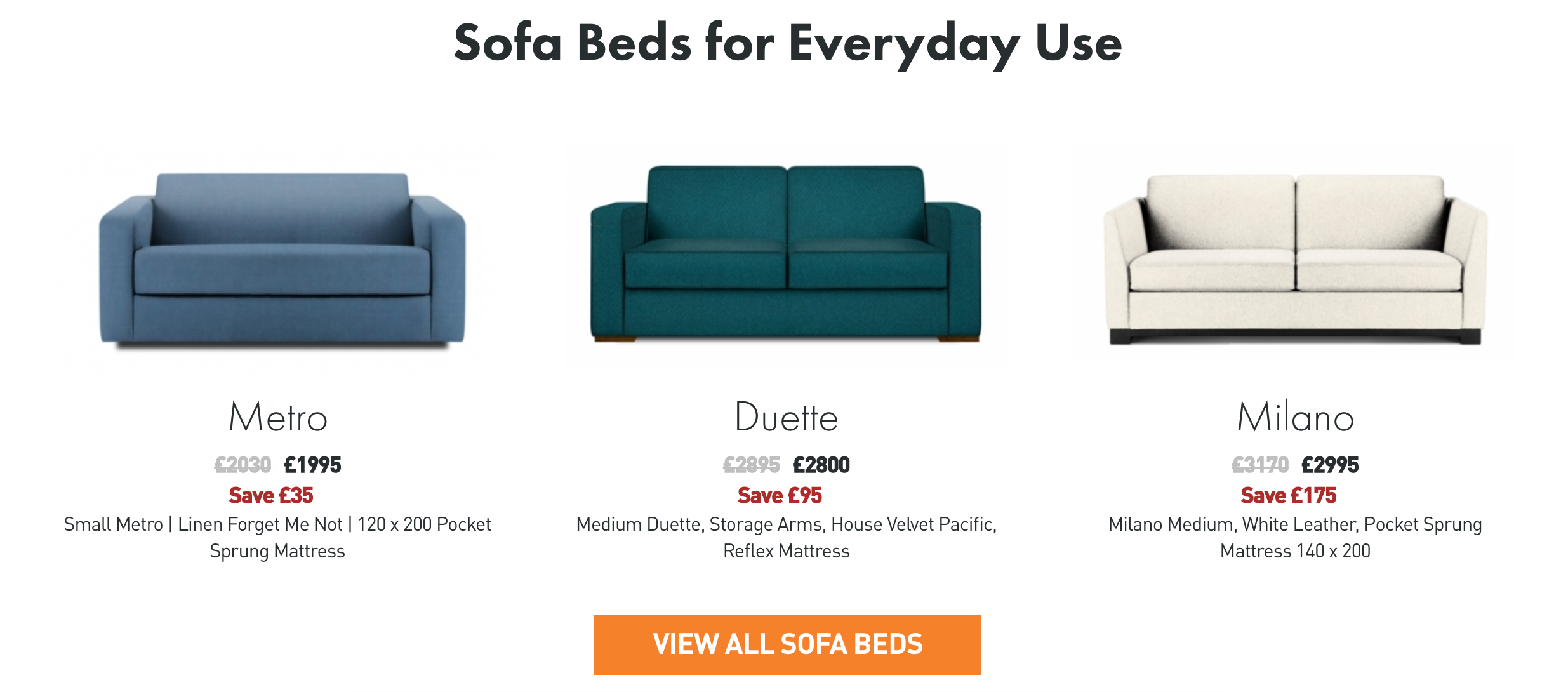 Sofa Bed Sale Please Note, Some Of These Models May No Longer Be Available  Pricing And Stock Is Correct At Time Of Publishing