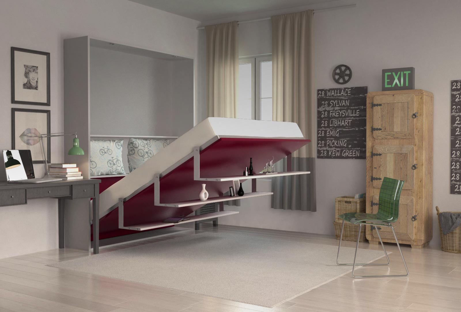 luxury wall bed