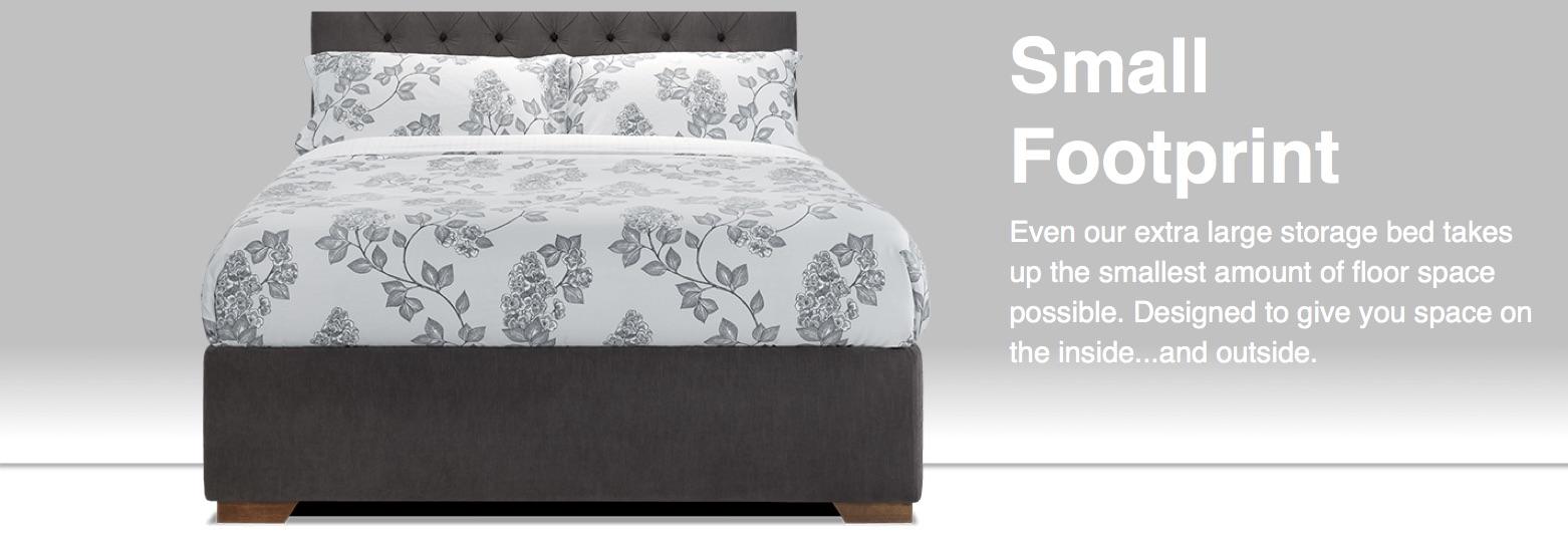 extra large storage bed