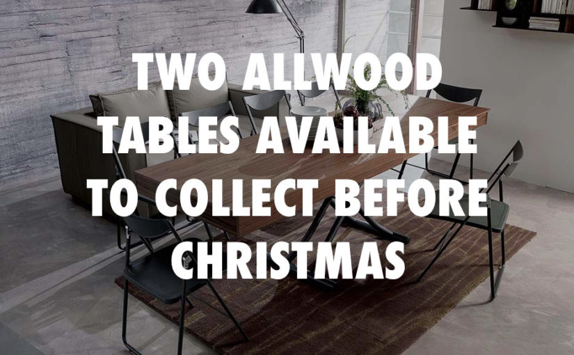 Extending Tables available before Christmas