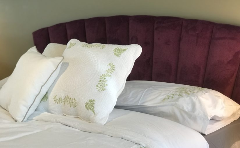 We have a new fabric headboard you're going to love