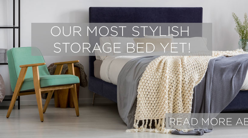 Our most stylish storage bed yet!