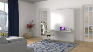 wall beds with a desk, wall beds, working from home, wall bed and desk, bed and desk, desk bed, bedroom office