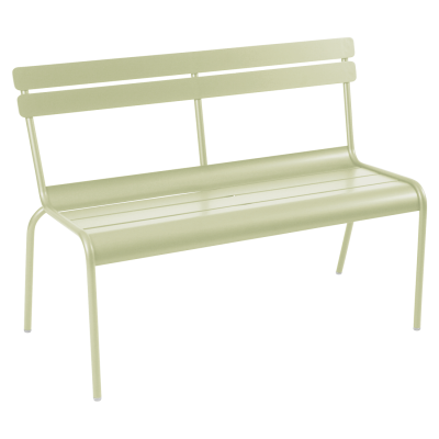Luxembourg Bench with Backrest - Willow Green