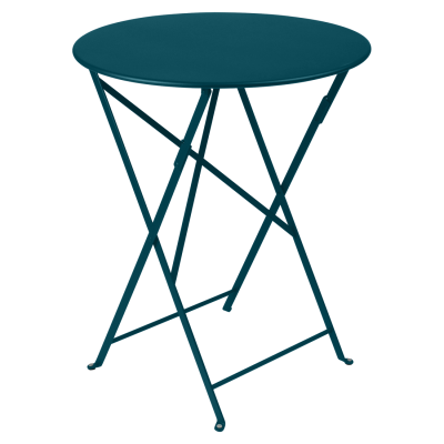 Bistro Folding Table 60cm - Acapulco Blue