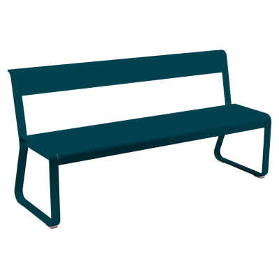Bellevie Bench  with Back Rest-  Acapulco Blue