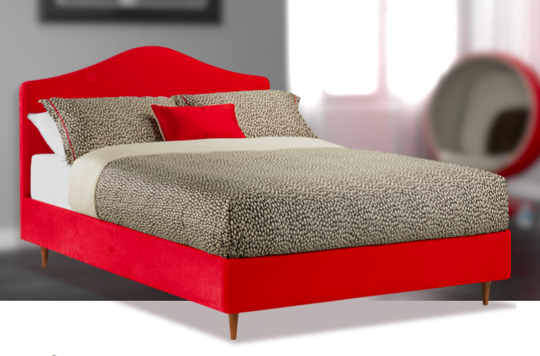 Air - Red Linen, Integrated Dune Headboard