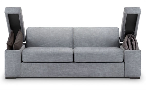 London Sofa Bed Clever Storage In The Arms