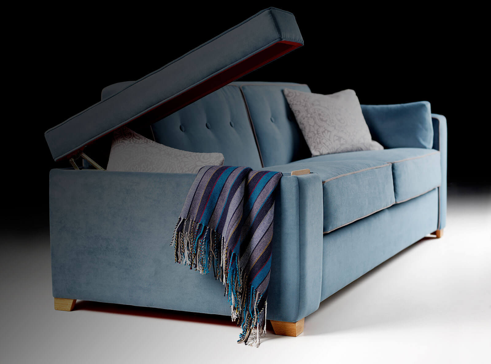 Sofa beds for every day use comfort day and night for Storage beds uk