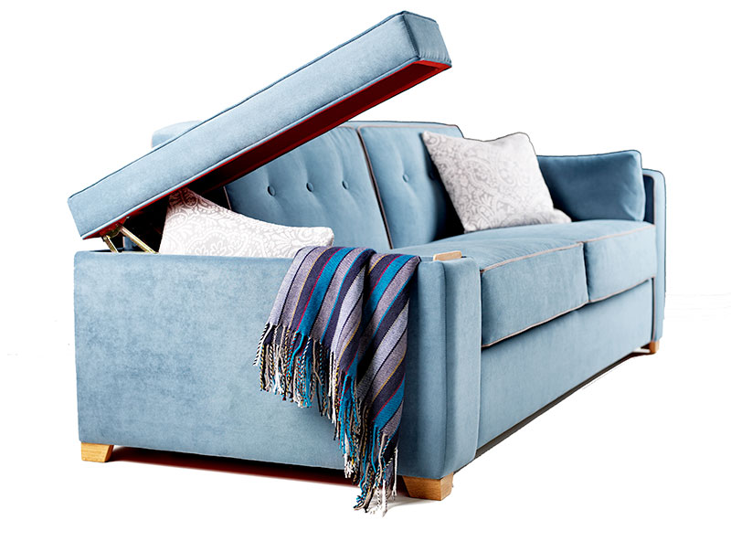 Sofa bed storage arms