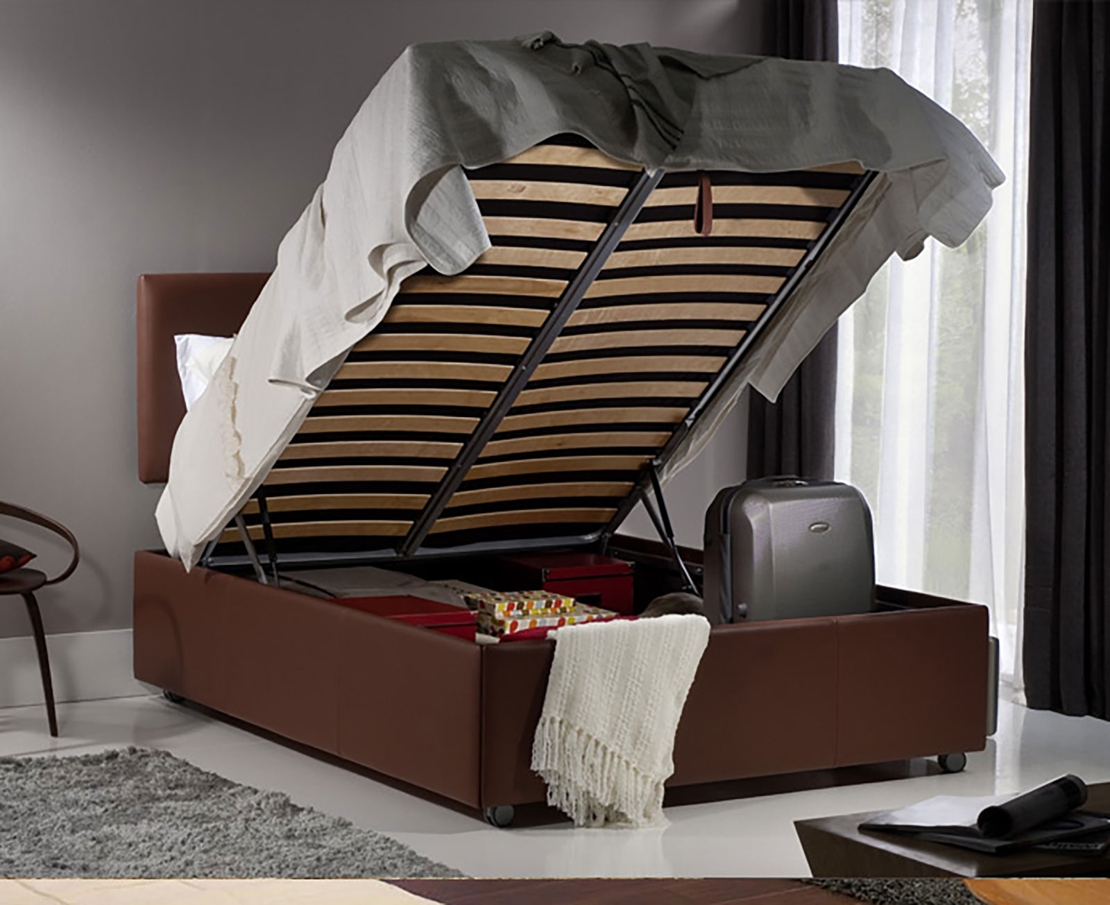 Wood Storage Beds
