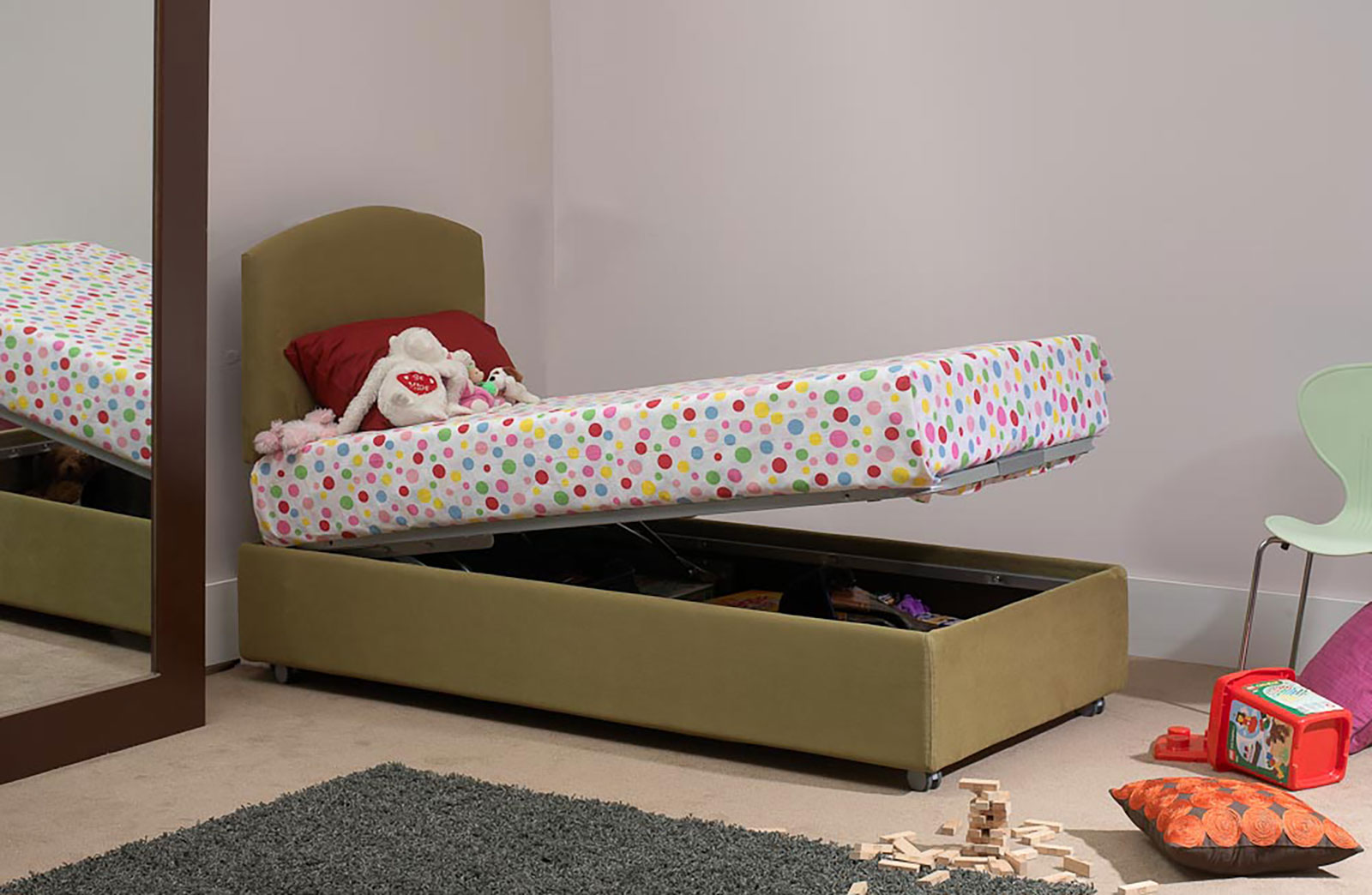 Single beds with storage child bed with storage underneath for Storage beds uk